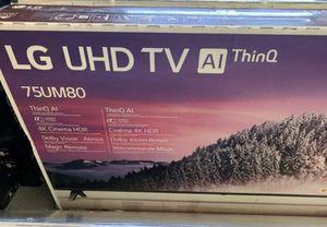 """75"""" LG smart 4K led uhd hdr tv for Sale in Norwalk, CA"""