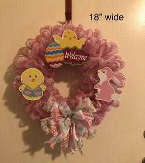 "Easter Wreath , new, handmade 18"" wide for Sale in Stockton, CA"