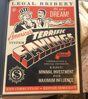 OBEY America's Savings print mint condition stored flat 2016 for Sale in Palos Verdes Estates, CA