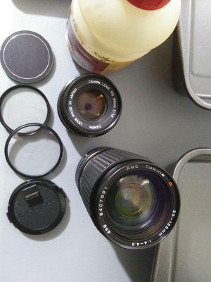 Canon FD lenses for Sale in Glendale, AZ