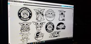Baby yoda decals for Sale in Lawton, OK
