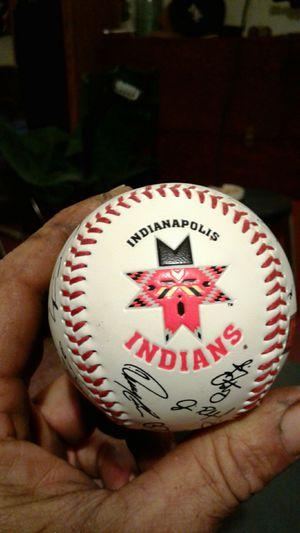 Indians team sign baseball for Sale in Evansville, IN