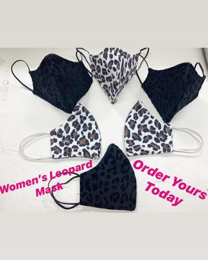 High Fashion Leopard Print Face Covers Triple Fabric for Sale in Whittier, CA