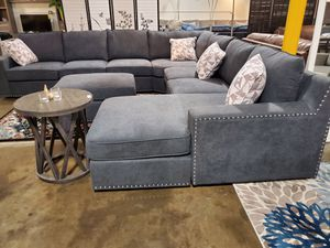 Oversized Sectional Sofa with Ottoman, Dark Grey for Sale in Santa Ana, CA