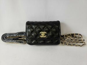 Chanel Paris Double Flap Quilted Coated Canvas & Leather Shoulder Bag Black for Sale in Dallas, TX