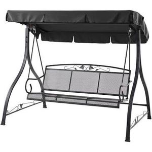 Outdoor 3-Person Swing Set Metal Bench Canopy Patio Porch Loveseat Deck NEW for Sale in Glendale, AZ