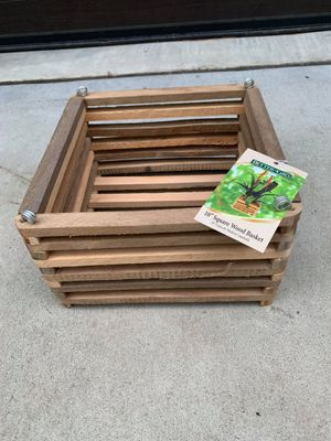 10 in. Wooden Square Basket for Sale in Apex, NC