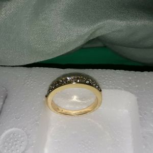 STAMPED 18 K Gold Plated Wedding Ring, Size 8. for Sale in Dallas, TX