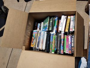 Box of dvd vhs movies over 60 for Sale in Glendale, AZ