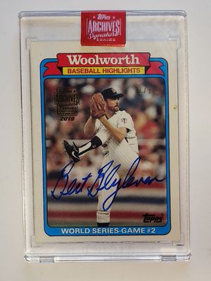 Bret Blyleven Archives Autograph ( 1 of 1) 1988 Encapsulated! for Sale in Clarksville, IN