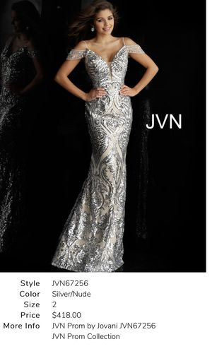 JVN by Jovani Silver/Nude Prom dress for Sale in West Hollywood, CA