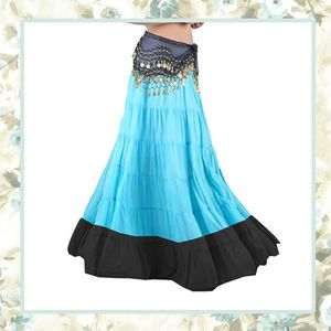 2PC BLUE MAXI SKIRT GYPSY FLARE WITH COIN BELT HIPPIE FESTIVAL PEASANT RAVE WOMAN GIRL BELLY DANCE SCARF CHAIN WRAP SHAWL SEXY ONE SIZE for Sale in Las Vegas, NV
