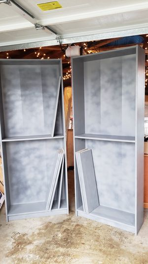2 Large Bookshelves - Gray for Sale in Seattle, WA