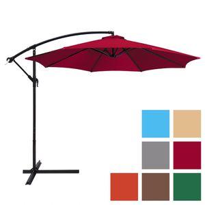 10ft Outdoor Offset Hanging Umbrella For Patio w/ Easy Tilt Adjustment - (Red) for Sale in Henderson, NV