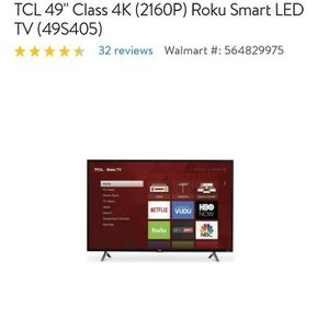 """49"""" Roku 4k smart TV selling it for 350$ for Sale in Pittsburgh, PA"""