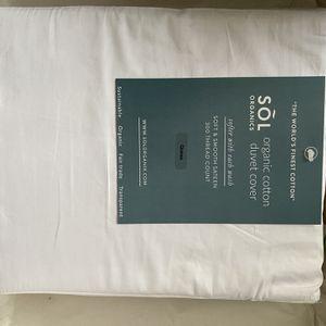 Organic Duvet Cover Set - White / FULL / QUEEN for Sale in Alameda, CA