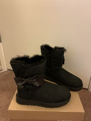 100% Authentic Brand New in Box UGG Boots with Bow / Color: Black / Women size 6 and women size 11 for Sale in Walnut Creek, CA
