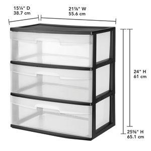 3 Drawer Plastic Organizer Storage Dresser for Sale in Westville, NJ