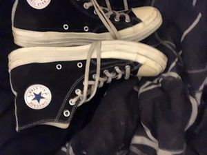 CDG CONVERSE BIG HEART BLACK SIZE 10.5 for Sale in Rancho Cucamonga, CA