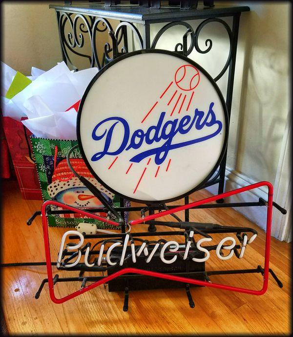 Vintage Dodgers Budweiser Heavy-duty Neon Sign