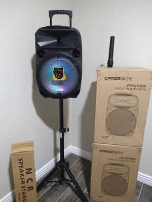 BLUETOOTH* USB* FM * TF CARD* AUXILIARY* MICROPHONE 🎤* KAREOKE* PORTABLE* WIRELESS* RECHARGEABLE* BRAND NEW IN SEALED BOX* for Sale in Rialto, CA