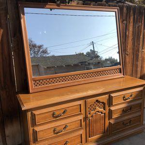 Oak Antique Bedroom Set for Sale in Fresno, CA