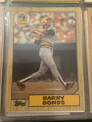1987 Topps Tiffany Barry Bonds Pittsburgh Pirates #320 Baseball Card for Sale in Fremont, CA