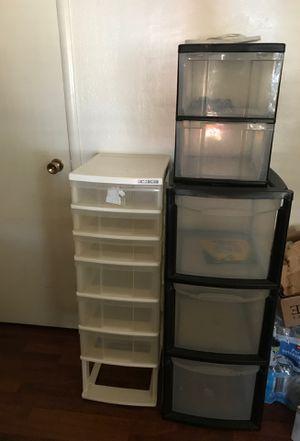 Plastic drawers for Sale in Stockton, CA
