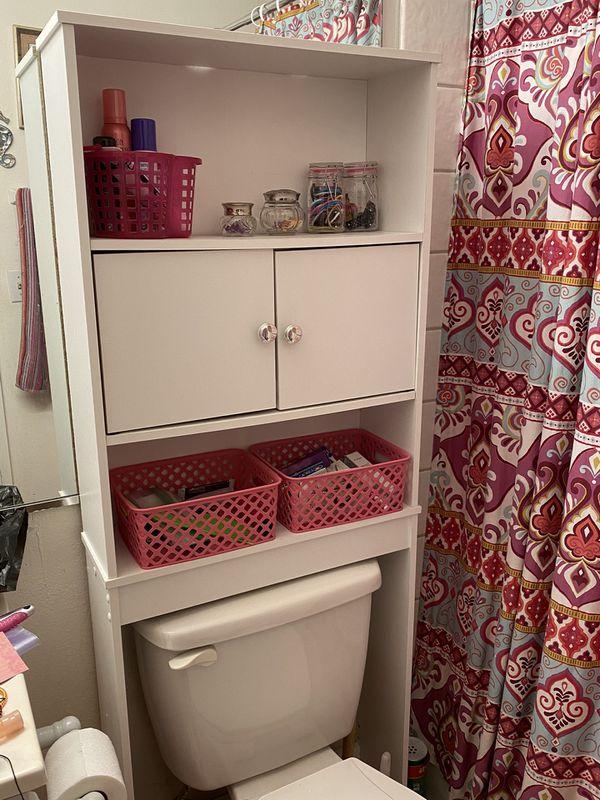 Bathroom over the toilet cabinet shelf / storage / shelves