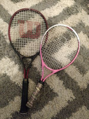 His and hers tennis rackets for Sale in Austin, TX