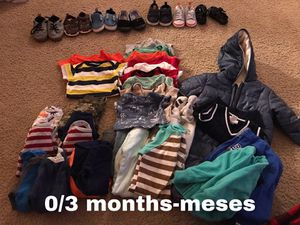Baby boy clothes and shoes for Sale in Moreno Valley, CA
