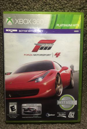 """""""FORZA MOTORSPORT 4"""" Platinum Hits for Microsoft Xbox 360 - Disc1(Very Good Condition), Disc2(Like New Condition!) for Sale in Phoenix, AZ"""
