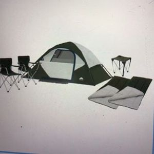 4 Person Tent - Tent, 2 Chairs, 2 Sleeping Bags, Table, Carrying Bag - Brand New for Sale in Brandon, FL