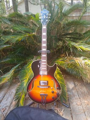AG75-Ibanez Artcore all maple archtop hollow-body guitar!EXC. + Gig bag!   Amps & new cord bundles available. for Sale in Spring, TX