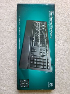 Logitech illuminated keyboard for Sale in Buffalo Grove, IL