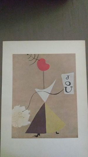 """Joan Miro 1940 s lithograph of the painting """"Woman, Newspaper, Dog for Sale in Winter Haven, FL"""