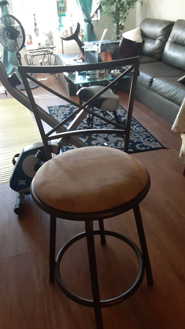 2 bar stools 60.00 brand new 1 small little tear