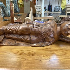 Relaxed Wooden Buddha Statue (New) for Sale in Gig Harbor, WA