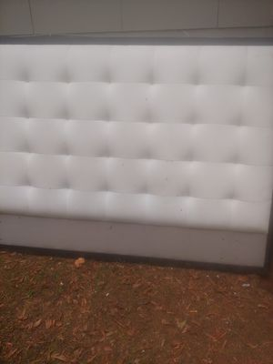 Free bed frame all leather hurry before it is ruined for Sale in Clarkston, GA