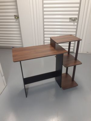 Laptop Desk with Shelves. Perfect for Small Room. 39.6in W x 15.5in D x 33.6in H surface 23.75in W for Sale in Fort Lauderdale, FL