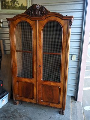 Antique Victorian carved cabinet cupboard for Sale in Lucas, TX