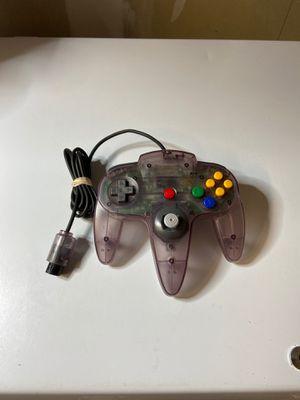 Official Genuine Nintendo 64 Controller - N64 Clear Atomic Purple for Sale in Elk Grove, CA