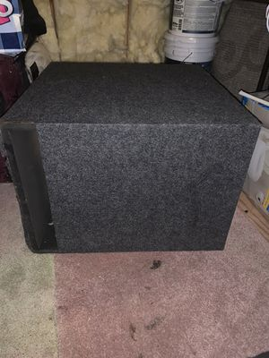 Custom 15 inch subwoofer box GREAT CONDITION for Sale in Tampa, FL