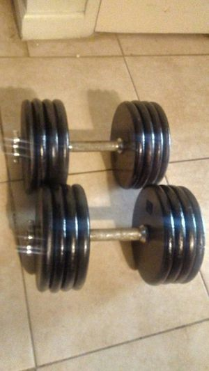 A pair of 80lb dumbbell weights (160lbs total) for Sale in El Cajon, CA