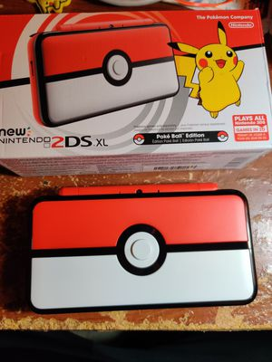 Pokeball nintendo new 2ds xl with 130 3ds games , ds , 2ds , 64gb for Sale in Los Angeles, CA