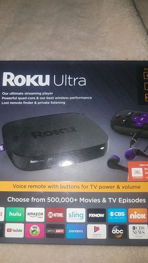 Roku Ultra with JBL headphones for Sale in Tolleson, AZ
