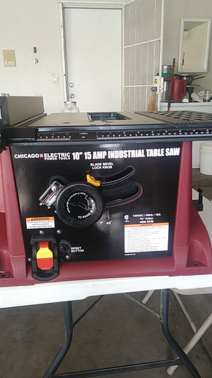 "Chicago electric 10"" 15 amp table saw for Sale in Phoenix, AZ"