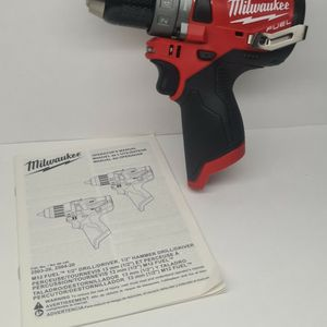 Milwaukee Fuel Hammer Drill M12 Tool Only for Sale in Easton, MA