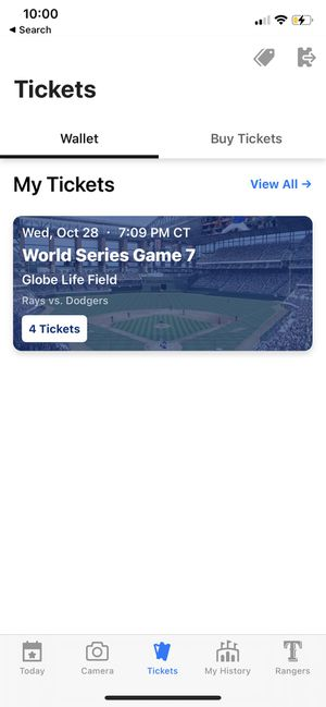 Four (4) World Series tickets game 7 for Sale in Dallas, TX