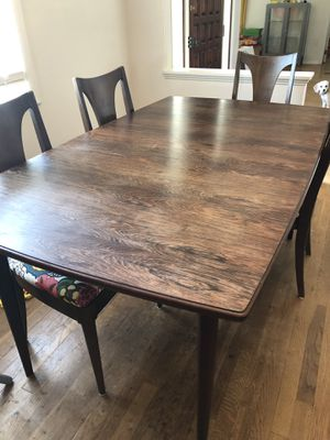 Rosewood vintage table and chairs for Sale in Alexandria, VA
